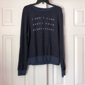 Wildfox Resolutions Baggy Beach Jumper Sweatshirt